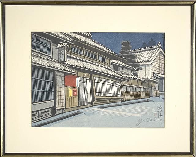 JUN'ICHIRO SEKINO COLOR WOODCUT (Japanese,