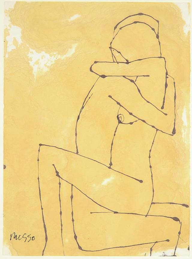 MICHELE RUSSO DRAWING (American, 1909-2004). An