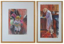 ARNE WESTERMAN (Oregon, born 1927) two watercolors
