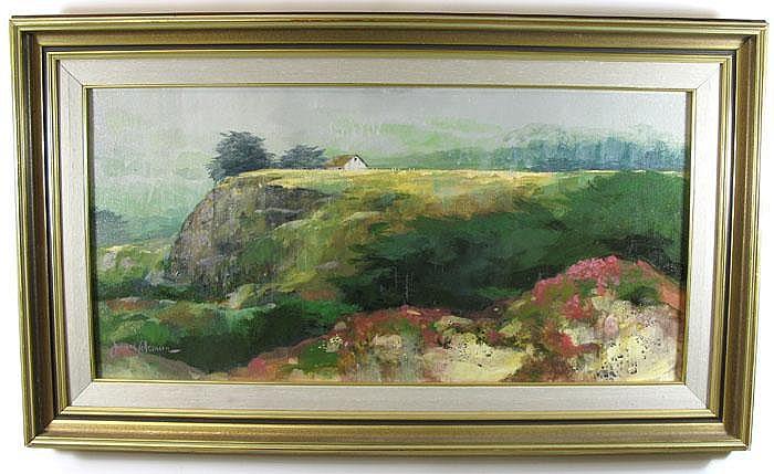 JAMES COLEMAN oil on canvas (Hollywood, California
