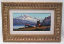 HEINIE HARTWIG OIL ON MASONITE (California, born 1