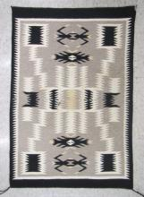 NAVAJO WEAVING SAMPLER fine woven mat with black,