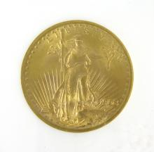 U.S. TWENTY DOLLAR GOLD COIN, Saint Gaurdens type,