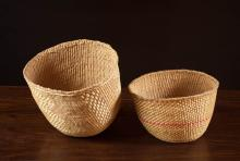 TWO NORTHWEST NATIVE AMERICAN (QUINALT) BASKETS, t