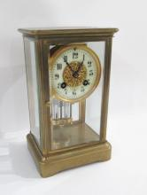 FRENCH CRYSTAL REGULATOR CLOCK, Japy Freres for J.