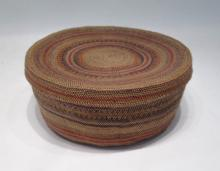 NORTHWEST NATIVE AMERICAN (MAKAH) COVERED BASKET,
