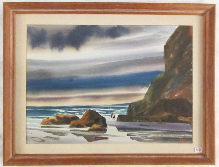 CHARLES MULVEY WATERCOLOR ON PAPER (Oregon, 1918-2