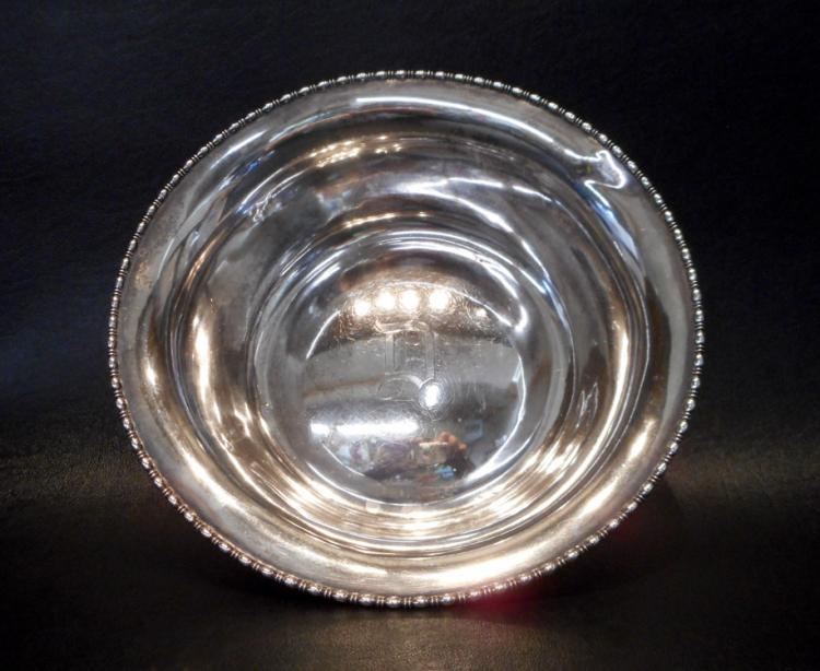 ROUND STERLING SILVER BOWL by Barbour Silver Compa