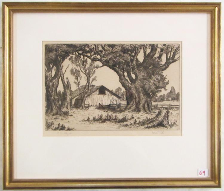 MELVILLE T. WIRE ETCHING (Oregon, 1877-1966)