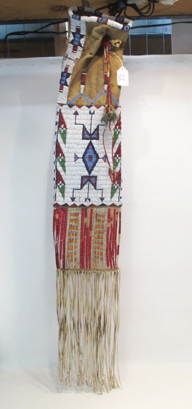 NATIVE AMERICAN (SIOUX) BEADED PIPE BAG, the body