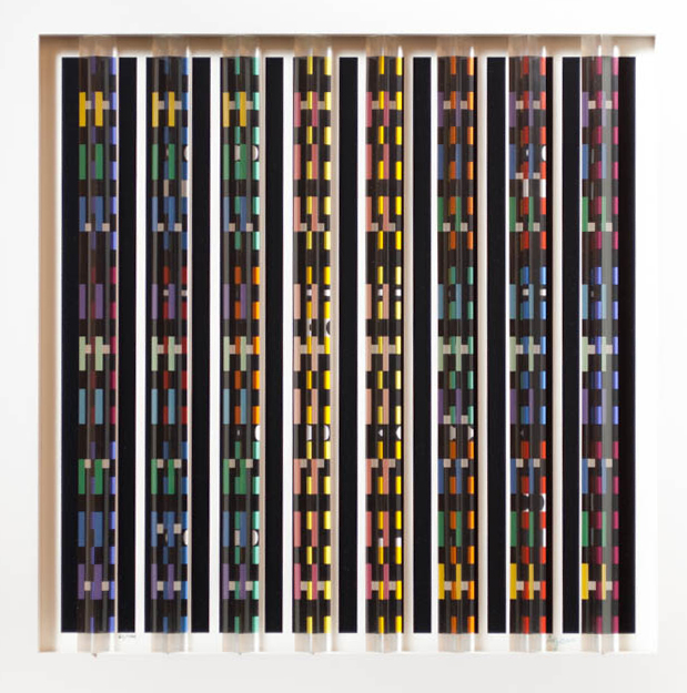 YAACOV AGAM SCREEN PRINT WITH LUCITE PRISMS (New Y