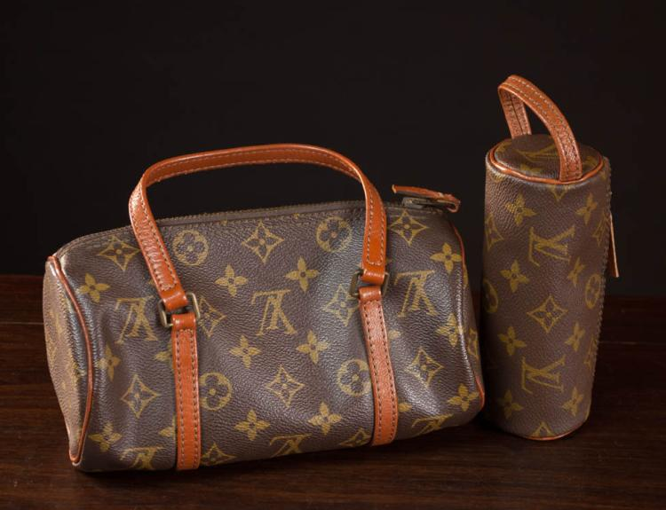 TWO LOUIS VUITTON ATTRIBUTED MONOGRAM BAGS, the go