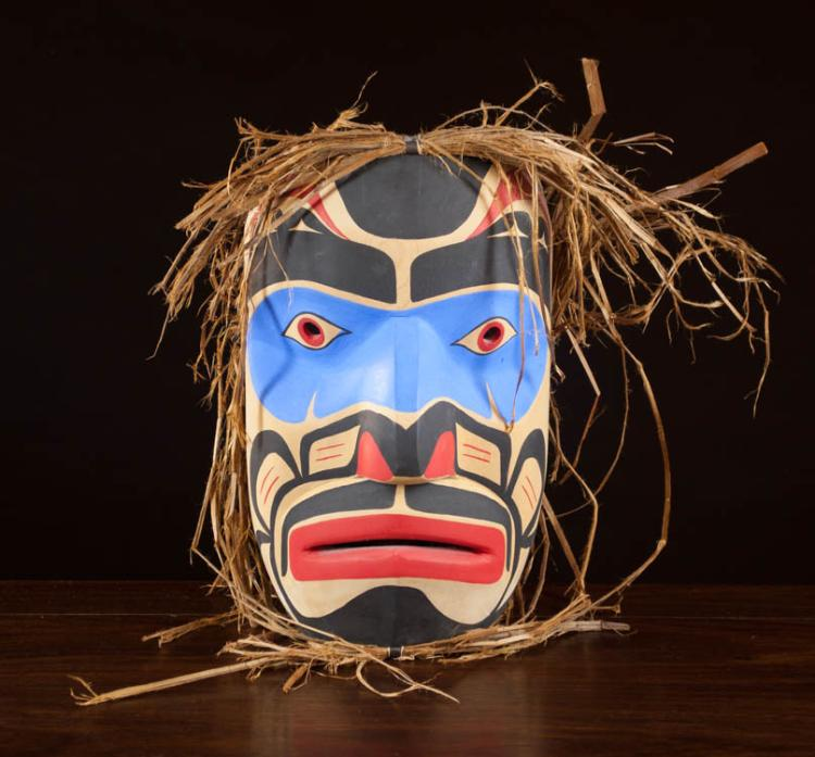 NORTHWEST NATIVE AMERICAN WARRIOR MASK BY MATTHEW