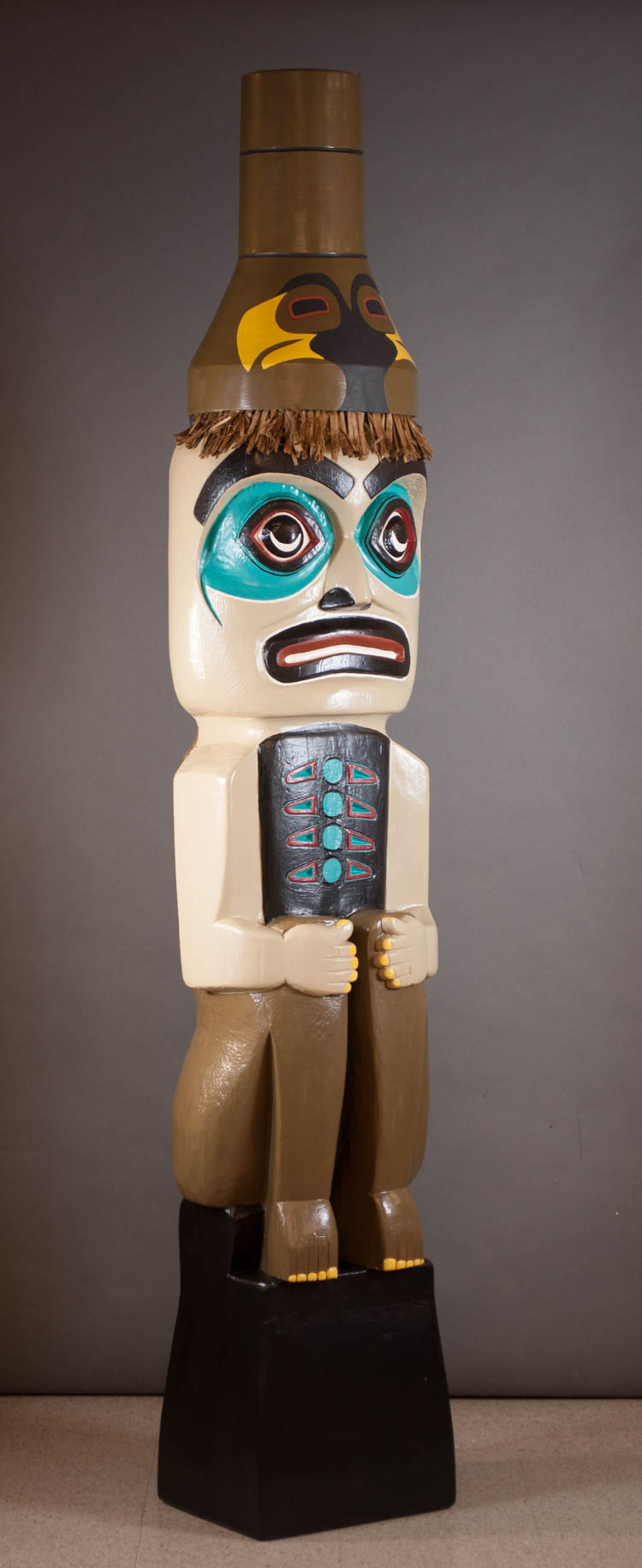 NORTHWEST COAST STYLE SPIRIT GUARDIAN TOTEM POLE,