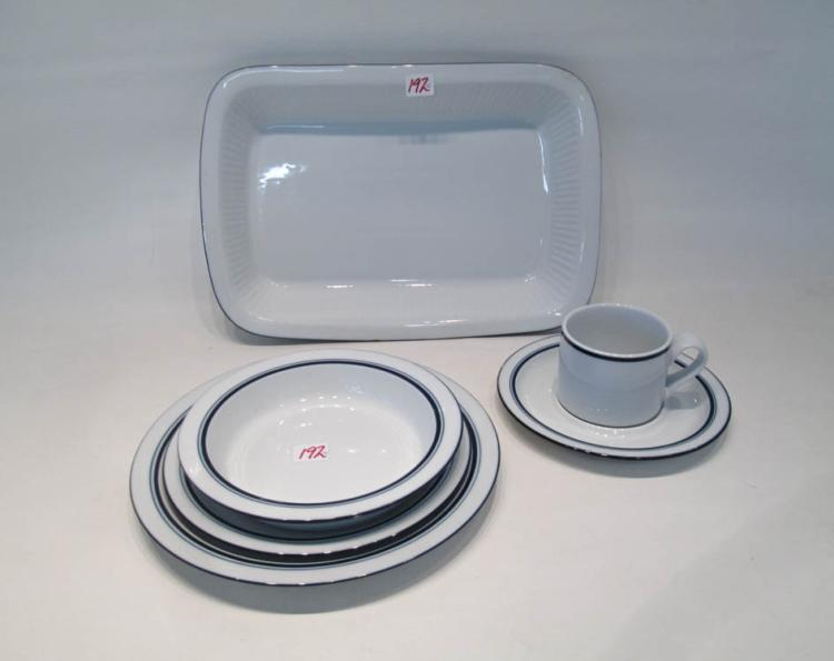 DANSK BISTRO DINNERWARE SET, fifty-two pieces in t