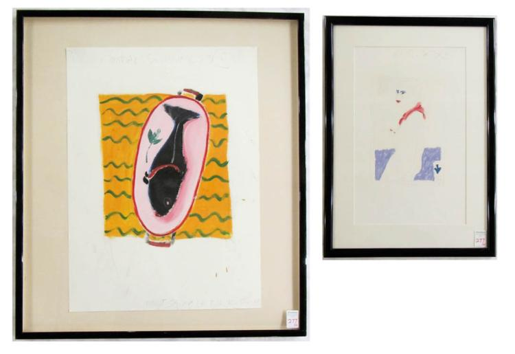 RANDAL SUMNER, TWO MIXED MEDIAS ON PAPER (Yakima,