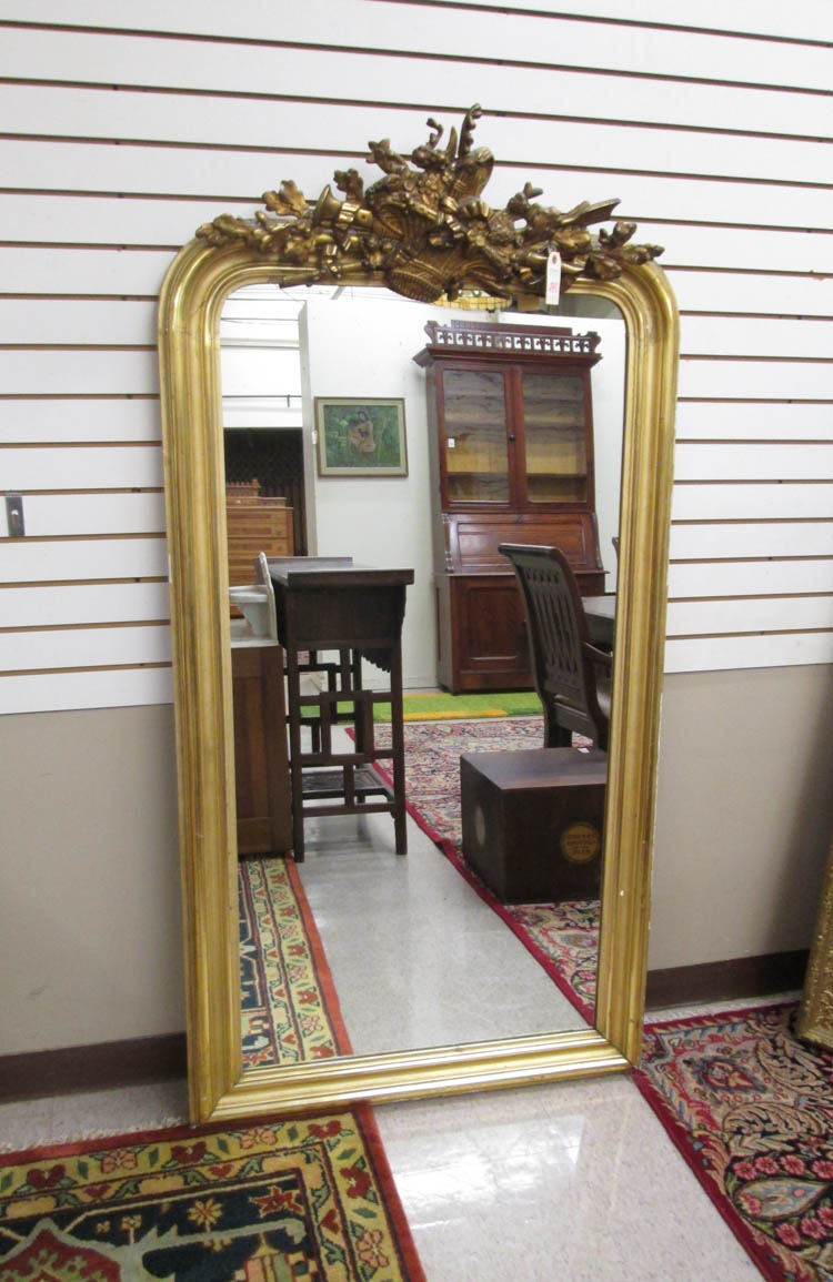 A VICTORIAN GILTWOOD PIER MIRROR, American, 19th c