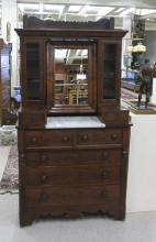 AN UNUSUAL EMPIRE/VICTORIAN TRANSITIONAL MAHOGANY