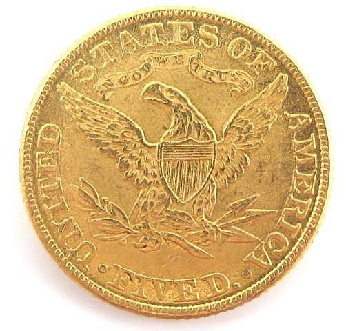 U.S. FIVE DOLLAR HALF EAGLE GOLD COIN, Liberty