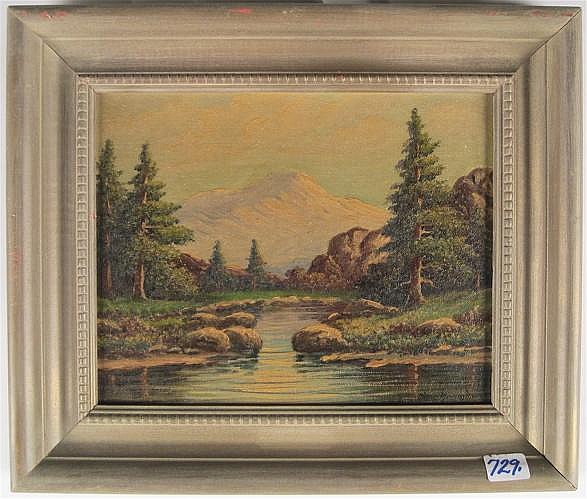 THOMAS MANNING MOORE OIL ON ACADEMY BOARD