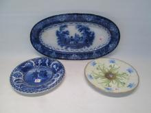 THREE PIECES PORCELAIN TABLEWARE including a Doult