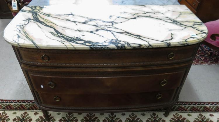 LOUIS XVI STYLE MARBLE-TOP CHEST, American, c. 192