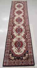 HAND KNOTTED ORIENTAL RUNNER, Indo-Persian, five f