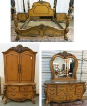 FIVE-PIECE BAROQUE STYLE BEDROOM FURNITURE SET, Ch