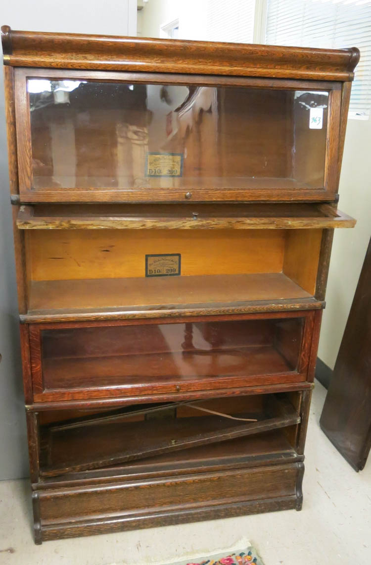 STACKING OAK BOOKCASE, The Globe-Wernicke Co., Ohi