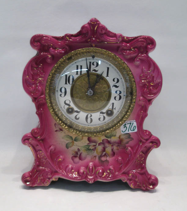 AMERICAN CHINA CLOCK, with time and bell strike mo