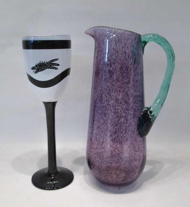 TWO KOSTA BODA ART GLASS VESSELS:  Frutteria Colle