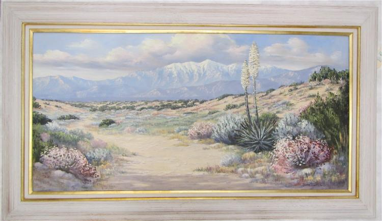 DILLIE THOMAS OIL ON CANVAS (California, 1932-2011