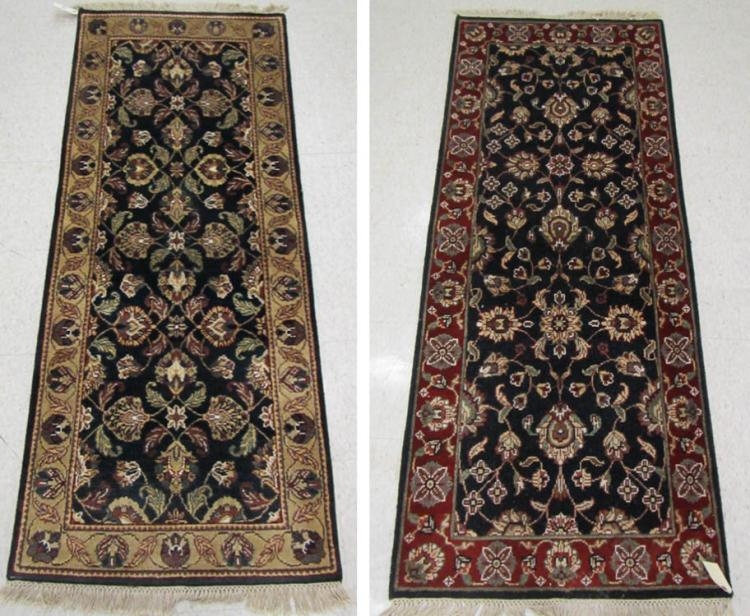 TWO HAND KNOTTED ORIENTAL AREA RUGS, Indo-Persians