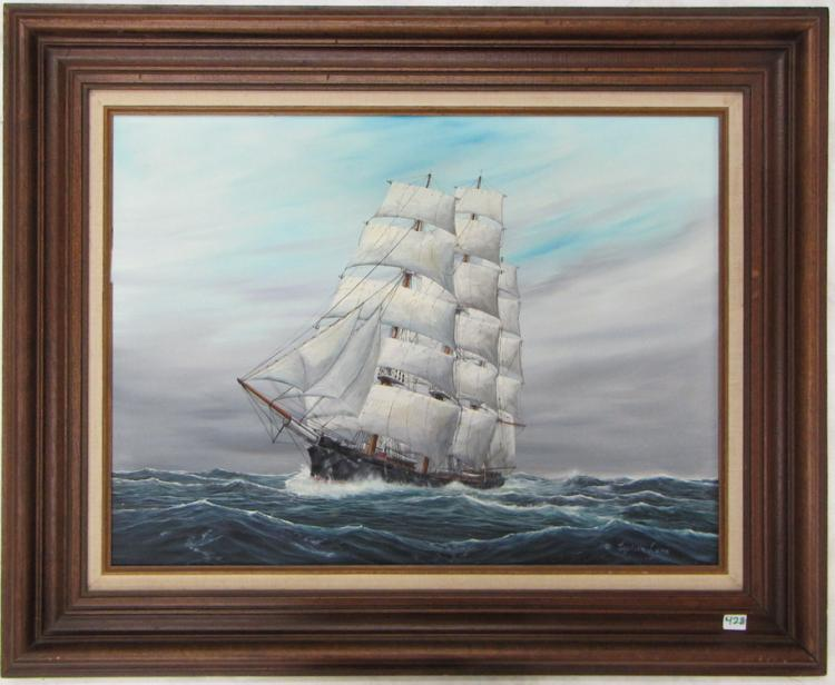 CAPTAIN LARS OIL ON CANVAS (Oregon/Denmark, born 1