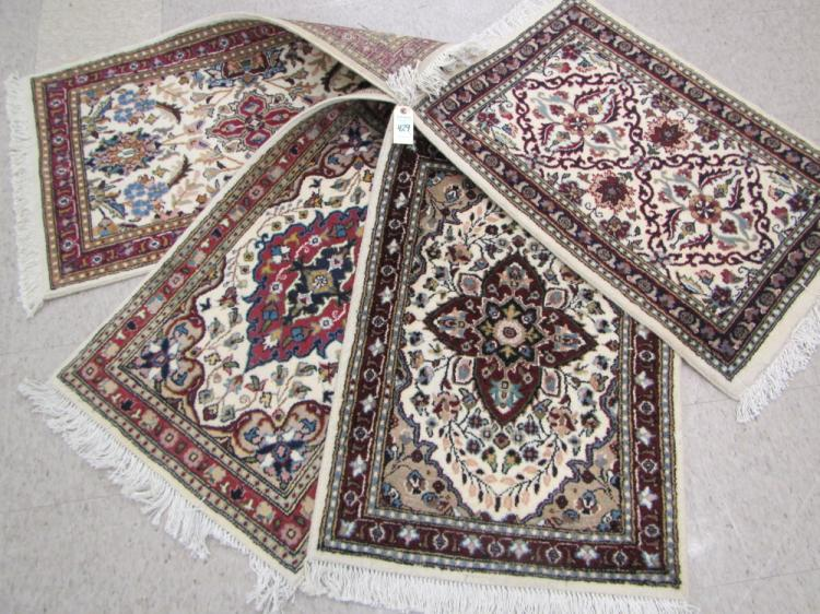 FOUR HAND KNOTTED ORIENTAL SAMPLER MATS, Pakistani