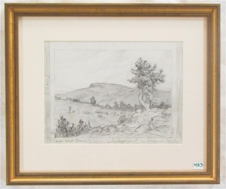 MELVILLE T. WIRE PENCIL SKETCH (Oregon, 1877-1966)