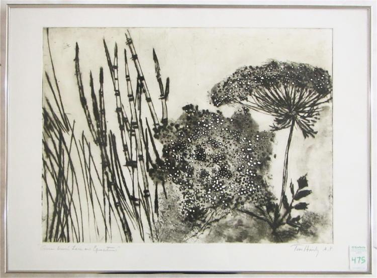 TOM HARDY DRYPOINT ETCHING (Oregon, born 1921)