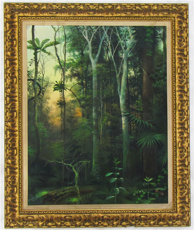 THYMYS PEREZ MELENDEZ OIL ON CANVAS, tropical fore