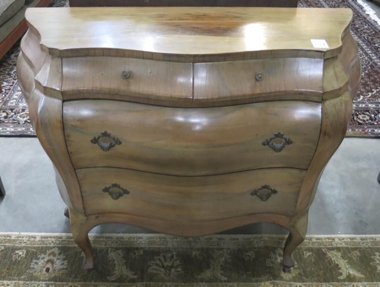 SMALL BAROQUE STYLE BOMBE COMMODE, Continental, 20