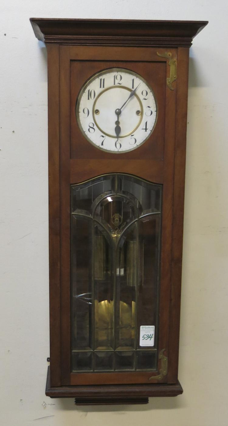 A VIENNA THREE-WEIGHT REGULATOR WALL CLOCK, Austri