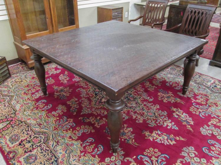 LARGE BANQUET TABLE, antique reproduction, square