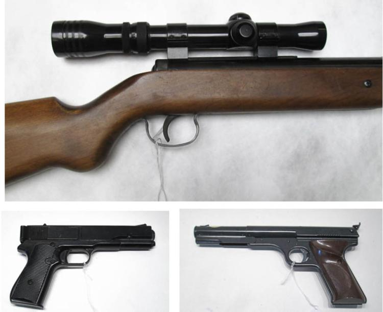 THREE AIR GUNS:  Winchester model 425, single pump