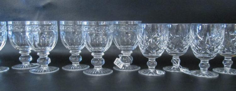 ASSORTED CRYSTAL STEMWARE:  set of 4 by Waterford
