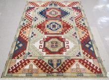HAND KNOTTED ORIENTAL CARPET, Indo-Kazak, three ge