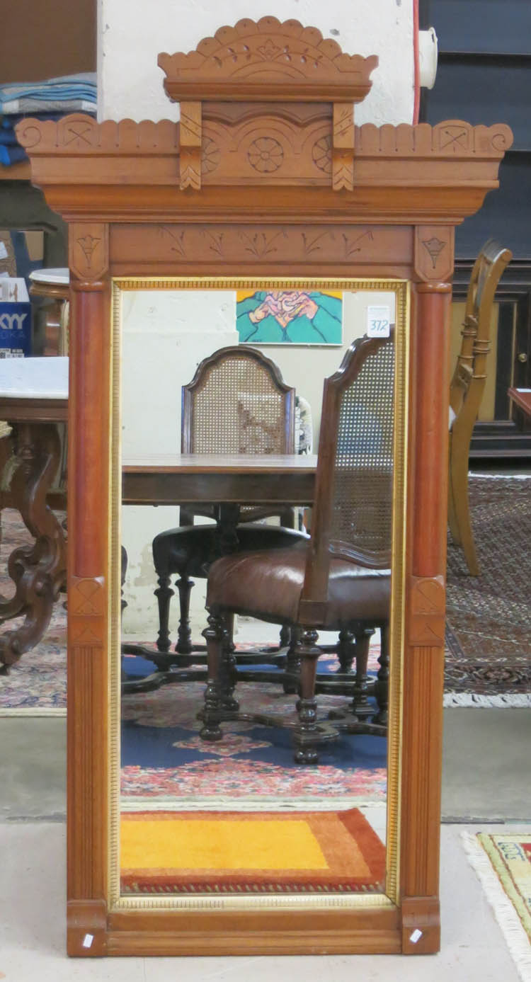 VICTORIAN WALNUT FRAMED PIER MIRROR, Charles Eastl