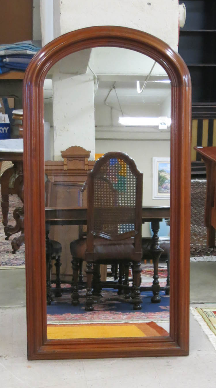 A VICTORIAN WALL-MOUNT DRESSING MIRROR, American,