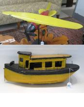 TWO NEW ENGLAND FOLK ART TOYS, the first a propell