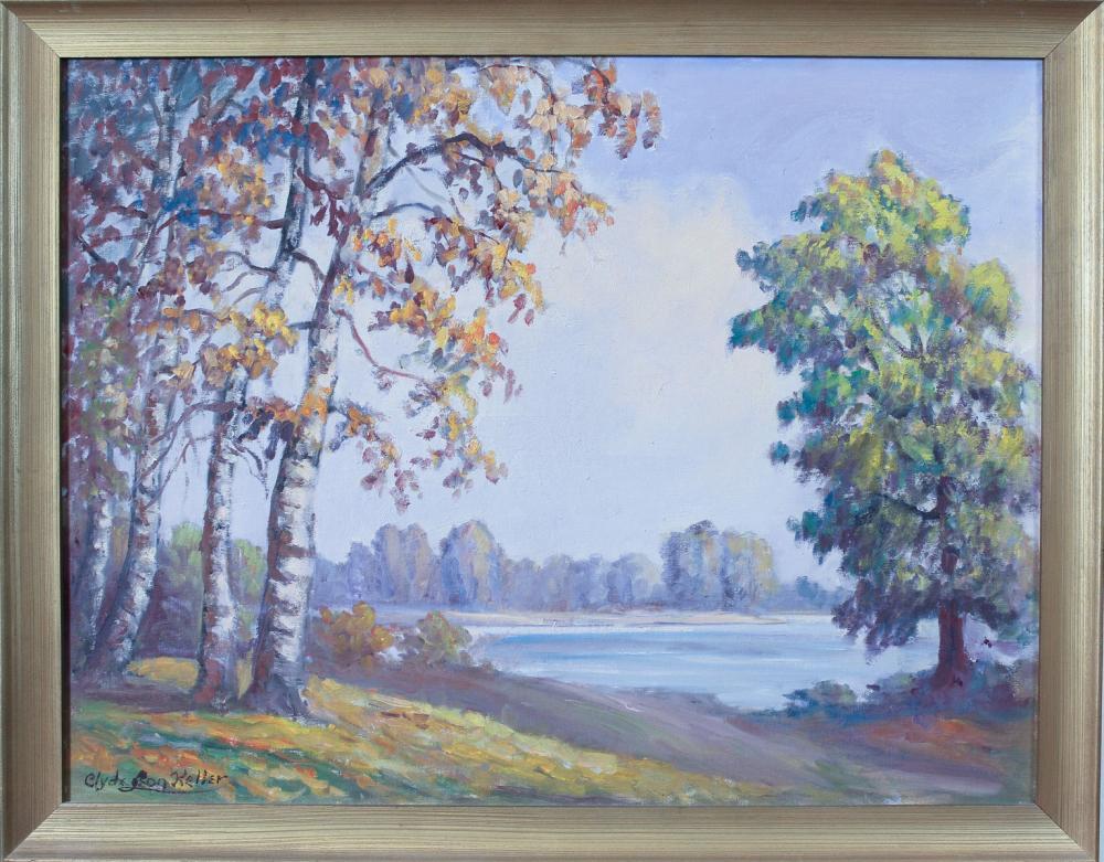 CLYDE LEON KELLER (Oregon, 1872-1962) oil on canva