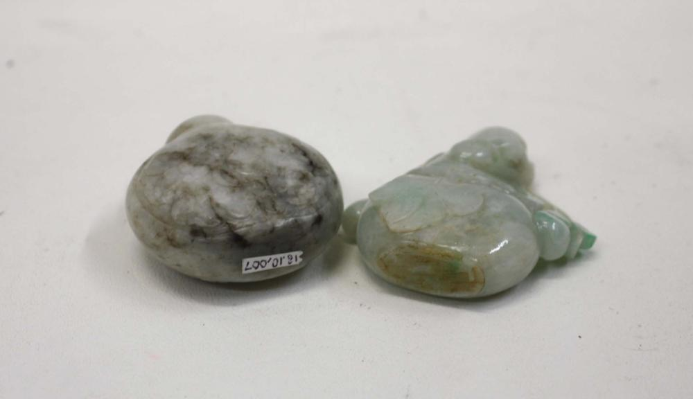 Lot 318: FIVE CHINESE JADE SNUFF BOTTLES, each complete wit