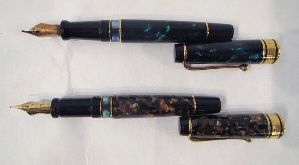 Lot 317: TWO AURORA ITALIA FOUNTAIN PENS, both are Optima 3